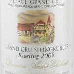 Domaine Ehrhart - Riesling Grand Cru Steingrubler 2008 - etikett