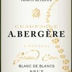 Champagne A Bergere - Brut Blanc De Blancs Grand Cru - etikett