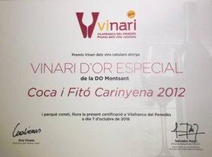 Coca i Fitó Carinyena - Vinari D'Or Especial