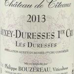 Chateau De Citeaux - Auxey-Duresses Première Cru Les Duresses 2013 - etikett