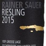 Rainer Sauer Riesling 2015 VDP. Grosse Lage Escherdorf Am Lumpen 1655 - etikett