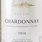 Lamblin & Fils - Chardonnay Lamblin & Fils 2016 - Etikett